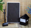 3W Solar Powered Water Fountain Pump Battery LED Timer