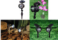 Outdoor Solar Garden Adjustable Spot Flood Lights 3-4 LEDs