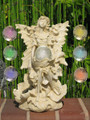 Angel With Wings And Color Changing Ball Solar Light