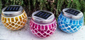 Solar Garden Decor Mosaic Pot Light