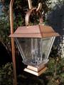 2-Pk Solar Bronze Plastic Lantern with Hanging Cane