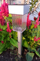 4-Pack Stainless Steel Square Garden Pathway Solar Lights