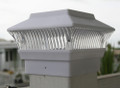 2-Pk 4 x 4 Solar White Deck Fence Mount Post Light