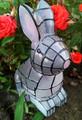 Solar Powered Garden Decor Mosaic Bunny Light