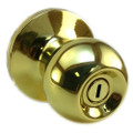 Kwikset Bed & Bath Privacy Regina Knob Set in Polished Brass Color