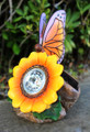 2-Pack Outdoor Solar Garden Rock Light with Butterfly and Sunflower