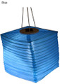 BLUE Ultra Bright LED Silk Effects Solar Lantern Square Shape