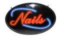 "13""X21"" ""Nails"" Sign - Flashing LED"