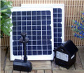 16W Solar Panel Water Pump Battery Timer LEDs Light Combo Kit