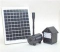 8W Solar Panel Water Pump Battery Timer LEDs Light Combo Kit