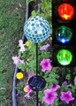 Solar Mosaic Glass Crackle Ball Color Changing LED Lights