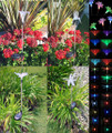 2-Pk Outdoor Stainless Steel Solar Landscape Light Color Changing LED