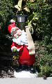 Outdoor Solar Garden Decor Santa Landscape Light LED