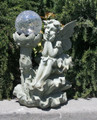 Outdoor Garden Decor Fairy Crackle Glass Ball Solar Light LED