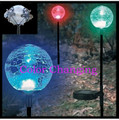 2-Pack Solar Glass Crackle Ball Light