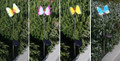2-Pack Garden Decor Butterfly Plastic Art Stainless Steel Solar Light