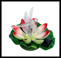 Floating Water Lily Dragonfly and Color Changing LED Solar Light