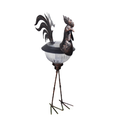 Solar Garden Decor Metal Bronze Rooster Solar Light