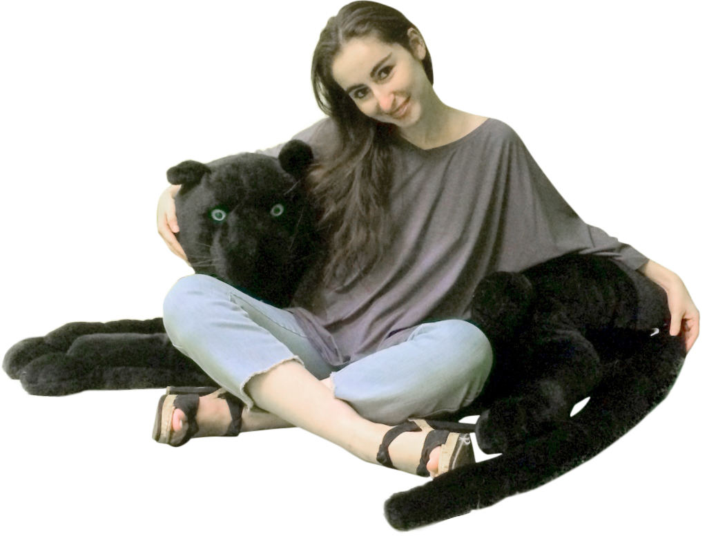 Jumbo Squishy Microbead Foot Pillow : Giant Stuffed Black Panthers