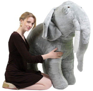 American Made Giant Stuffed Elephant 48 Inches Big Plush Animal Made in the USA America