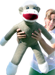 American Made Big Plush Sock Monkey 28 Inches MAde in the USA America