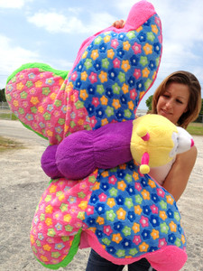 Giant Stuffed Butterfly Pillow Toy is 3-Feet Long and Huge and Squishy Soft and Big Plush Fun Toy