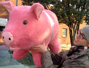 Giant Stuffed Pink Pig 32-inches Long - Stuffed Soft - Made in the USA America