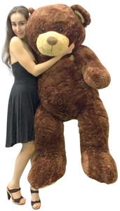 Huge Soft Teddy Bear 5 Feet Tall Brown with Bigfoot Paws Giant Stuffed Teddybear Animal