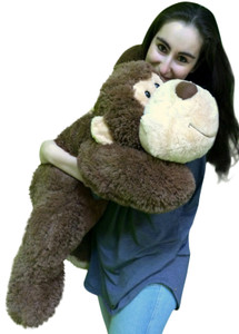 Big Stuffed Monkey 3 Feet Long Squishy Soft Brown 36 Inches Large Plush Floppy Gorilla