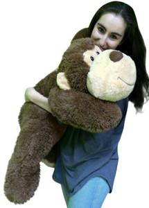 Big Stuffed Monkey 3 Feet Long Squishy Soft Brown 36 Inches Large Plush Floppy Gorilla