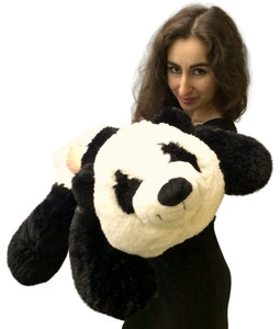 Big Stuffed Panda 3 Feet Long Squishy Soft 36 Inches Large Plush Floppy Bear