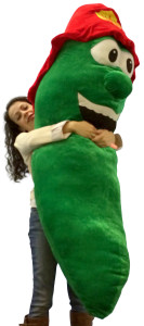 Giant Stuffed Pickle 66 Inches Huge Five and a Half Feet Tall Big Plush Gift Send One To Get Out of a Pickle