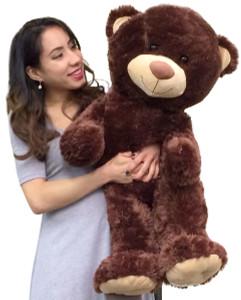 3 Foot Giant Teddy Bear Three Feet Tall Brown Color Stuffed Very Soft Premium Quality Big Teddybear
