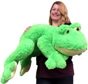 Giant Stuffed Frog 3 Feet Long Soft Big Plush Animal 37 Inches Wide Superior Quality Fun Toy