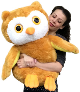 Big Stuffed Owl 26 Inches Tall Premium Quaity Very Soft Big Plush Animal