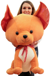 Giant Stuffed Chihuahua 38 Inches Tall Big Plush Dog Huge Soft Adorable Plush Pooch