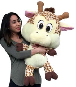 Big Plush Baby Giraffe 36 inches Soft Adorable Premium Quality Stuffed Animal Three Feet Tall Head to Toe