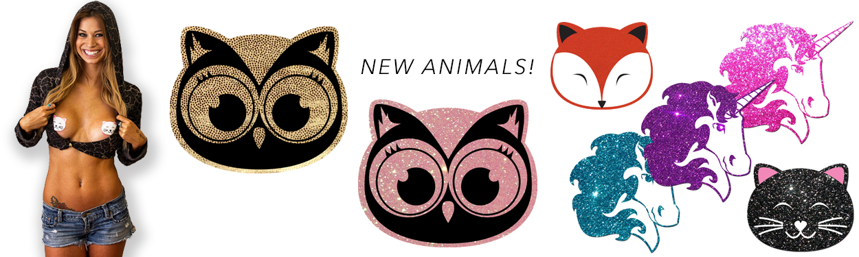 New Animal Head Pasties by Pastease