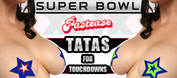 Tatas for Touchdowns Pastease Football Team Superbowl Nipple Pasties Seattle and New England