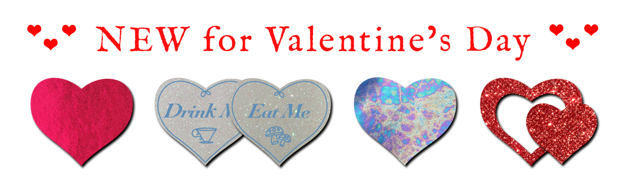 Valentine's Day Pastease Nipple Pasties Section
