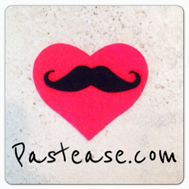 mustache pasties in red heart pastease