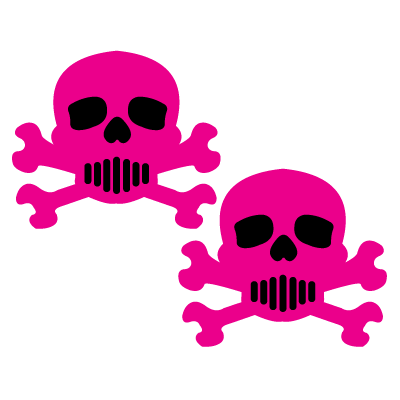 Hot Pink Skull Crossbones Nipple Pasties by Pastease®