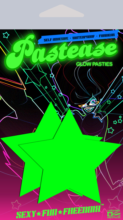 Glow Nipple Pasties in Star by Pastease