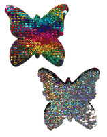 Monarch: Rainbow & Silver Glitter Color Changing Sequin Nipple Pasties by Pastease® o/s