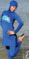Blue Swimsuit for Muslima's