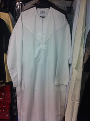 Special Man Arabian Islamic Omani Thobe for the Muslim Man - White