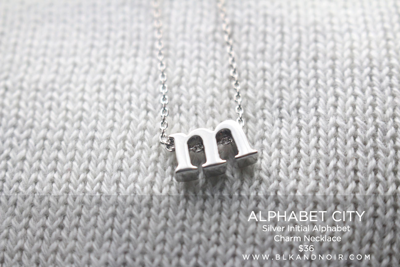 ALPHABET CITY Silver Initial Alphabet  Charm Necklace $36