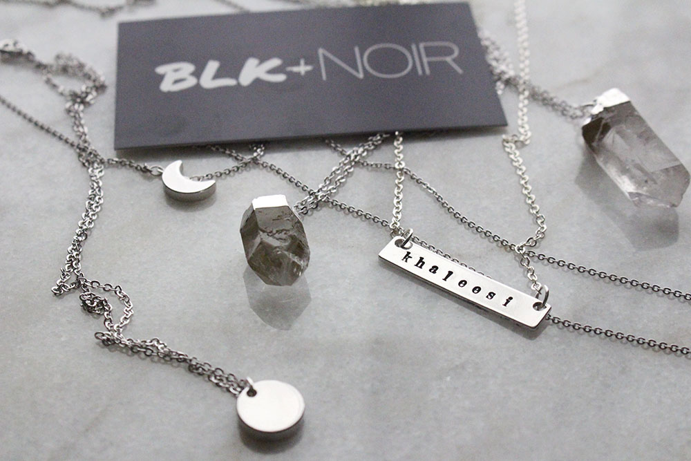Silver dainty necklaces by BLK AND NOIR