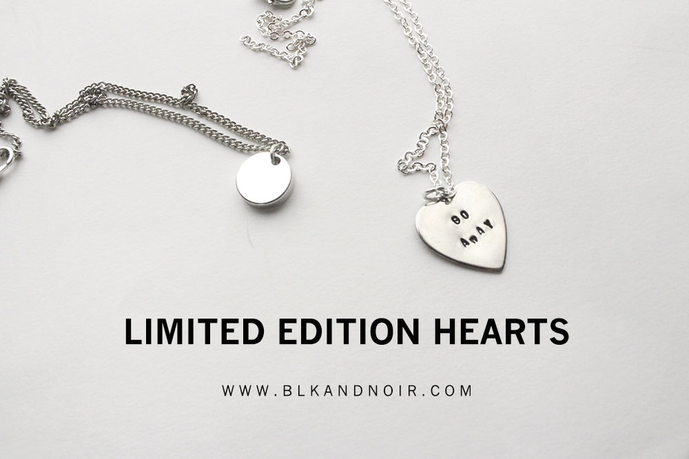 LIMITED EDITION ENGRAVED HEARTS