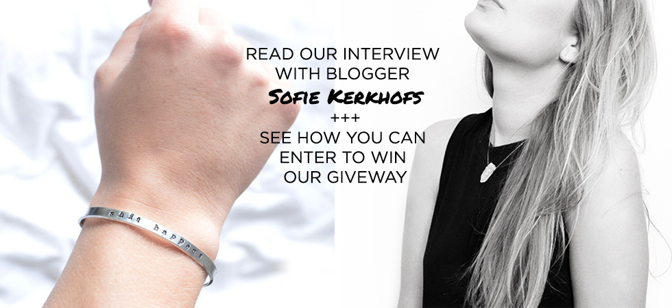 Here is Sofie's interview on her jewelry style and how she selects jewelry!
